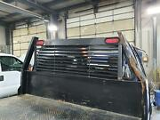 99-07 Ford F350sd Aftermarket 8' Bed, W/headache Rack Damage, Has Side Boxes