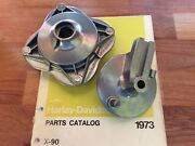 Harley Aermacchi Mc-65 Shortster And X-90 Front Wheel Hub And Side Plate