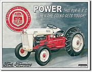 Ford Farming Power Jubilee Tractor Metal Sign 410mm X 320mm Sf