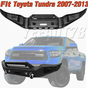 Front Bumper + Work Light Square Lights Fog Lamps For 2007-2013 Toyota Tundra