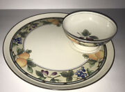 Mikasa Intaglio Garden Harvest Chip And Dip Set Plate And Bowl 11andrdquo