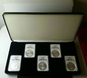 Lot Of Five 2011 1 American Silver Eagle Dollars Ngc Ms70