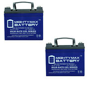 Mighty Max 12v 35ah Gel Replacement Battery For Exmark Zero-turn Mowers - 2 Pack