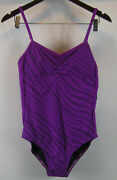 Speedo Going Native Clip Back Swimsuit Orchid L New
