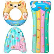 Balnore Pool Floats 3 Pcs Pool Toys For Kids Inflatable Bear Swimming Ringtub...