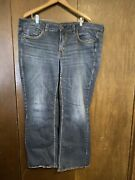 Womens Silver Jeans Plus Size 24 Lola Style