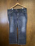 Womens Silver Plus Size Jeans Size 24 Aiko Style