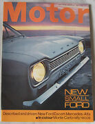 Motor Magazine 20/1/1968 Featuring Ford Escort Launch Issue Cutaway Drawing