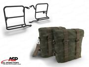Royal Enfield Classic 350cc And 500cc Military Pannier Pair Set With Fitting Frame