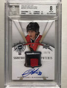 Patrick Kane Rookie 2007-08 The Cup Signature Patches 3 Clr Patch Auto Bgs 8/10