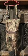 Kids' Fishing Waders, Boot Foot Chest Waders In Warm Camo Neoprene Size 6/7