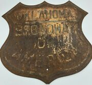 Vintage Oklahoma Broadway Of America Sign Old Historic Sign Man Cave Decor