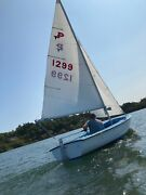 Sailboat And Trailer Mfg Pin Tail 14and039 With Load Rite Trailer