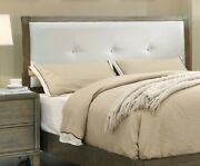 Gray Fabric Button Tufted Hb Cal King Size Bed Bedroom 13 Slats Furniture Modern