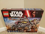 New Sealed Lego Star Wars Captain Rexand039s At-te 75157 In Hand Free Shipping