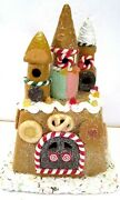 Dept 56 Light House Cookie Ice Cream Cone Sand Castle Lighted Christmas Display