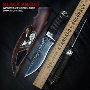 Handmade Damascus Steel Tactical Knife With Sheath Bushcraft Survival Knives