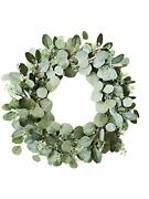 Eucalyptus Wreath With Lights - 23 Inch Battery Operated 80 Led 23dia