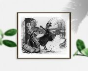 Photo Illustration,fable,'the Ant And The Grasshopper',inects Dressed As Women,