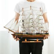 Wooden Sailboat Ship Model Home Decor Gift Toy Puzzle Antique Hand Craft Art