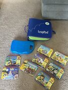 Leap Frog My First Leap Pad Learning System Bundle 9 Books 8 Cartridges Bookbag
