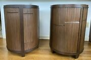 Vtg Mcguire Of San Francisco Bamboo Dining Table Base Or End Tables Set Of 2
