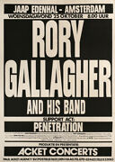 Rory Gallagher 1978 Original Amsterdam, The Netherlands Concert Poster