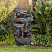 Large Water Fountain Rock Led Lights Home Outdoor Decor Garden Patio Yard 39 H
