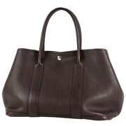 Hermes Garden Party Pm Negonda Leather Hand Tote Bag Square L Used