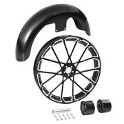 21 X 3.5 Front Wheel Rim Hub And Front Fender Fit For Harley Electra Glide 08-21