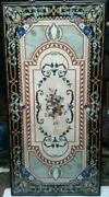 5and039x3and039 Black Marble Table Top Handmade Pietra Dura Inlay Art Home Garden