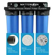 Matterhorn Fluoride Reduction Big Blue House Water Filtration System 3 Stage 20