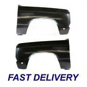 New Set Of 2 Front Lh And Rh Side Fender Fits Dodge D150 D250 D350 Ramcharger W150
