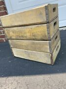 4 Vintage Faded Weathered 1960andrsquos Coca Cola Coke Soda Crates 4 Dividers