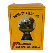 Emmett Kelly Big Boss Musical Snow Globe Vintage Collectible Flambro With Box