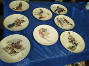 Set Of 8 10 1/2 Gorham Norman Rockwell Four Seasons Collector Plates