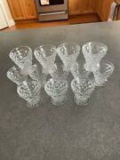 Vintage American Fostoria Clear Footed Set Of 12 Oyster Cocktail / Fruit Cups