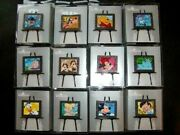 Disney Pin - Hkdl - Oil Painting Series - Complete Set 12pins Le800 Rare