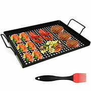 Grill Basket Nonstick Grill Topper With Holes Bbq Grill Tray Vegetable Grill