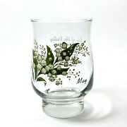 Dominion Glassware Flower Of May Lily Of The Valley From 1940s To 1960s Vintage.