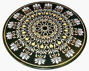 3and039x3and039 Black Coffee Center Marble Table Top Inlay Malachite Home Decor C25