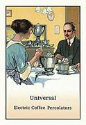 Universal Electric Coffee Percolators - Gallery Wrapped 32x48 Canvas Print,
