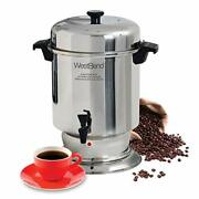13550 Polished Stainless Steel Commercial Coffee Urn Features Automatic
