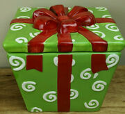 Realhome Christmas Package Ceramic Jar And Lid High Fire Earthenware