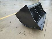 New 60 Wain-roy Style Backhoe Ditch Bucket To Fit 1/4 Yd Coupler W/ 1.75 Pin
