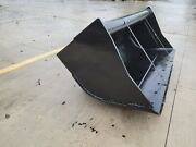 New 60 Wain-roy Style Backhoe Cleanup Bucket To Fit 1/4 Yd Coupler W/ 1.75 Pin