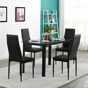 4piece Pu Leather Chair Or Dinner Table Kitchen Dining Room Breakfast Furniture