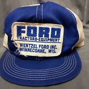 Perfectly Destroyed Ford Tractor Snapback Mesh Patch K Brand Wi Hillbilly Hat