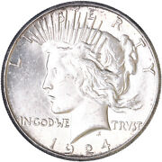 1924 S Peace Silver Dollar Bu Us Mint Coin See Pics G802