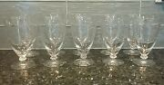 Antique Vintage Etched Cut Crystal Water Glasses 10 6 Tall - Fostoria